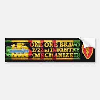 2/22nd Inf. 25th Div. One One Bravo Bumper Sticker