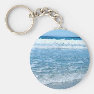"2.25"" Basic Button Keychain Ocean"