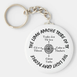 "2.25"" Basic Round Lipan Apache Key Chain"