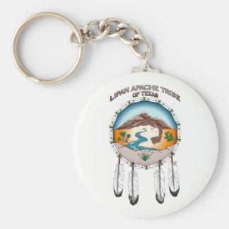 "2.25"" Basic Round Tribal Shield Key Chain"