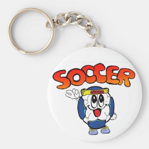 """2.25"""" Basic Soccer Button Keychain"""