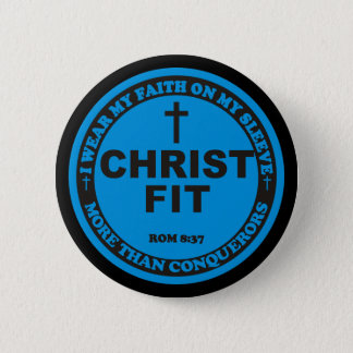 2.25 inch Christ Fit round pin button
