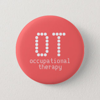 "2.25"" occupational therapy button - melon"