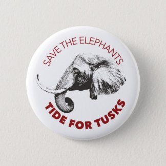 "2.25"" Save the Elephants button"