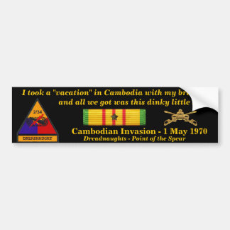 2/34th Armor Cambodian Vacation Bumper Sticker