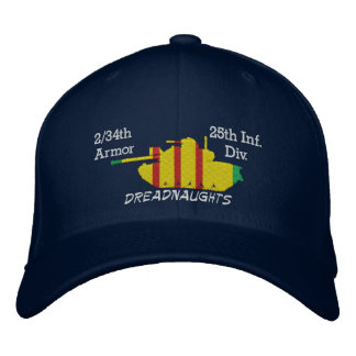 2/34th Armour 25th Inf. Div. M48 Embroidered Hat