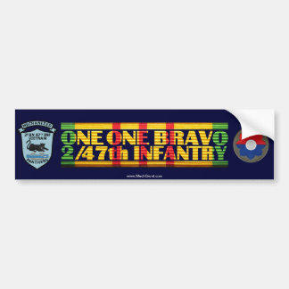 2/47th Inf. 11 Bravo Patches Vietnam Sticker Bumper Sticker