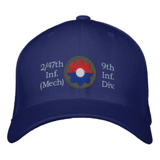 2/47th Inf. 9th Inf. Div. Patch Embroidered HatThe Embroidered Baseball Cap