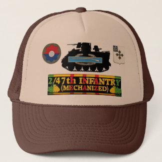2/47th Inf. (Mech) M113, CIB & Insignia Hat