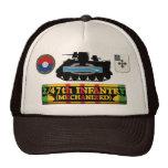 2/47th Inf. (Mech) M113, CIB & Insignia Hat