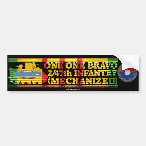 2/47th Inf. Mech. One One Bravo Bumper Sticker
