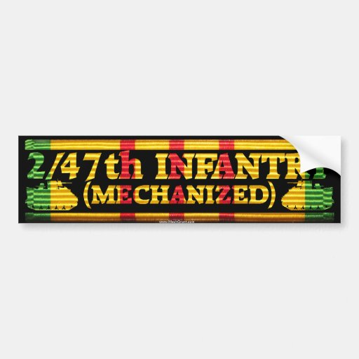 2/47th Inf. Mech Tracks VSR Sticker Bumper Sticker