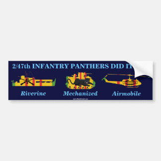 "2/47th Inf. ""Panthers Did It All"" Sticker"