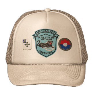 2/47th Infantry Vintage Panthers Patch Mesh-Back H Cap