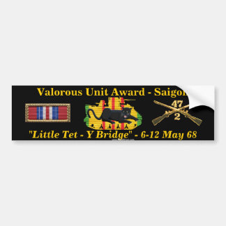"2/47th Valorous Unit ""Little Tet"" Bumper Sticker"