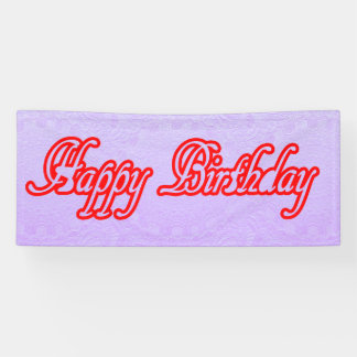 2.5' x 6' Banner HAPPYbirthday Happy+BIRTHDAY