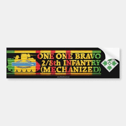 2/8th Inf. Mech. One One Bravo Bumper Sticker