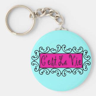 $2.95 C'est La Vie (That's Life) Keychains
