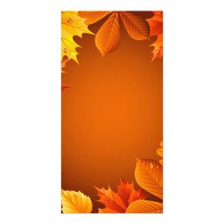 2.ai Orange Autumn Leaves Photo Card