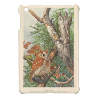 2 angry vintage owls in a tree cover for the iPad mini