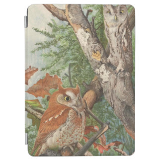 2 angry vintage owls in a tree iPad air cover
