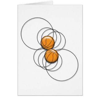 2 Basketball Pattern - 3D Greeting Card