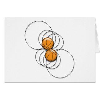 2 Basketball Pattern - 3D Greeting Card