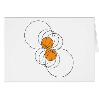 2 Basketball Pattern Greeting Card