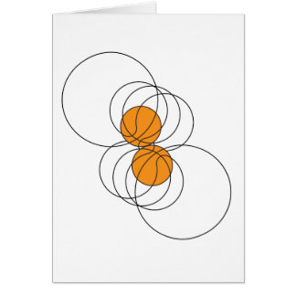 2 Basketball Pattern Greeting Card
