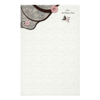 2 Become 1 Kissing Butterflies Stationery
