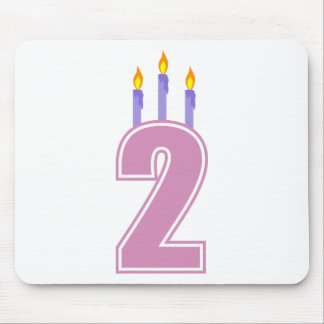2 Birthday Candles (Pink / Purple) Mouse Pads