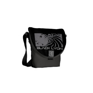 2 black armor Lyons iphone android Messenger Bag