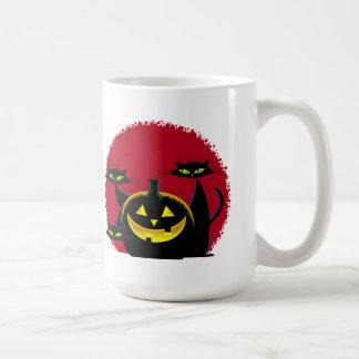 2 Black Cats Halloween Mug