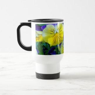 2 Blue Yellow Pansies Mug