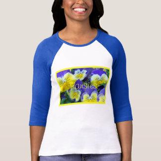 2 Blue Yellow Pansies Shirts