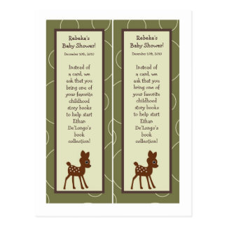 2 Book Marks Forrest Animal Owl Deer Bird Porcupin Postcard