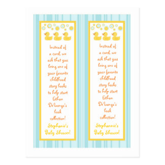 2 Book Marks Rubber Ducky Bubbles Postcards