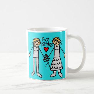 2 brides-color coffee mugs