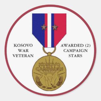 2 CAMPAIGN STARS KOSOVO WAR VETERAN STICKERS
