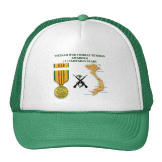 2 CAMPAIGN STARS VIETNAM WAR VETERAN CAP