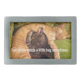 2 Cats Cuddling and Sleeping Belt Buckles