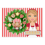 #2 Christmas Kitchen Card - SRF Pack Of Chubby Business Cards