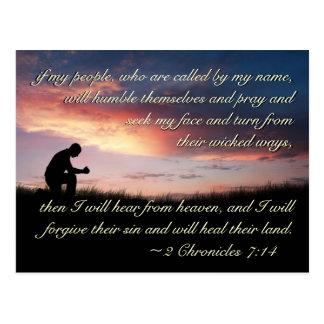 2 Chronicles 7:14 Bible Verse If My People Pray Postcard