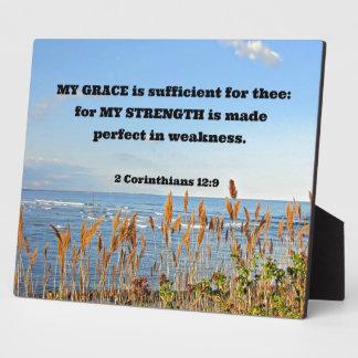2 Corinthians 12:9 My Grace is sufficient ... Plaque