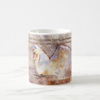 2 Corinthians 3:17 ...there is freedom Bible Verse Coffee Mug