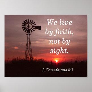 2 Corinthians 5:7 - art print
