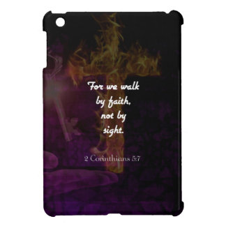2 Corinthians 5:7 Bible Verse Quote About Faith iPad Mini Covers