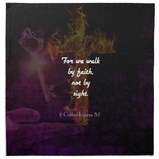 2 Corinthians 5:7 Bible Verse Quote About Faith Napkin