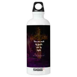 2 Corinthians 5:7 Bible Verse Quote About Faith Water Bottle