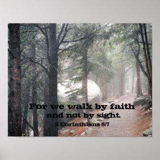 2 Corinthians 5:7 Poster
